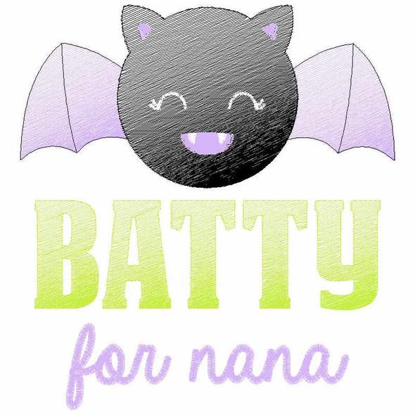 Batty for Nana Sketch Applique