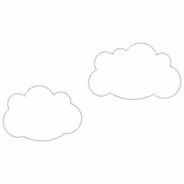 Cloud Set Satin and Zigzag Applique