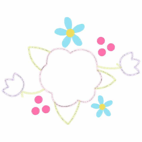 Floral Spray Chain and Vintage Applique