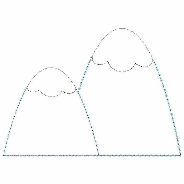 Mountains Satin and Zigzag Applique
