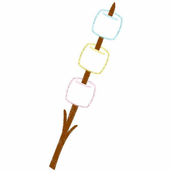 Roasted Marshmellows Chain and Vintage Applique