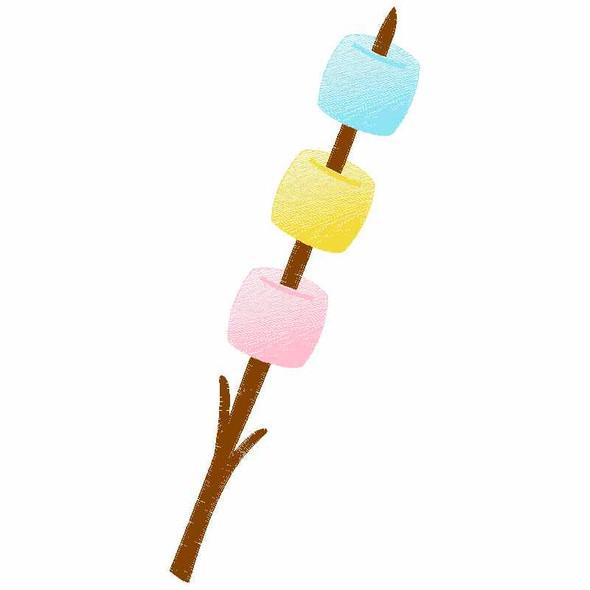Roasted Marshmellows Sketch Applique