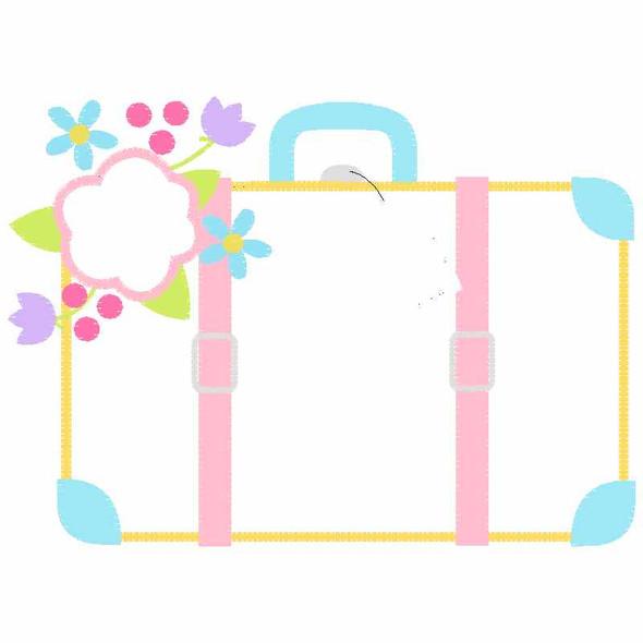 Suitcase Satin and Zigzag Applique
