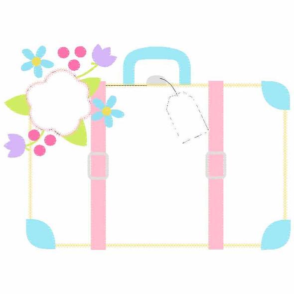 Suitcase Chain and Vintage Applique
