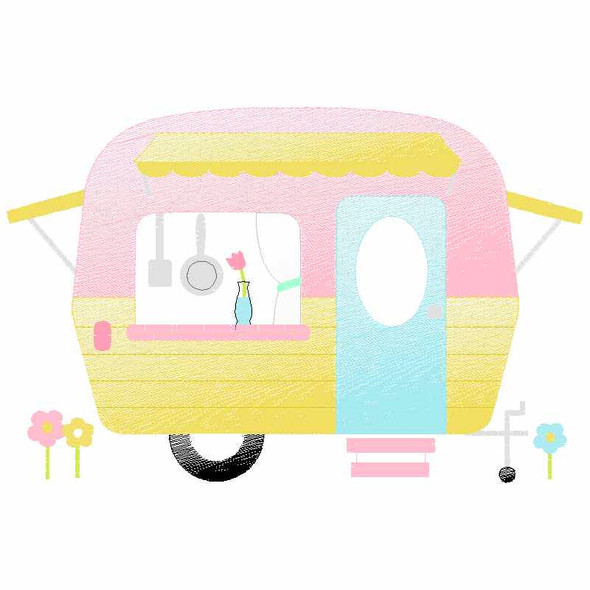 Sweet Camper Sketch Design