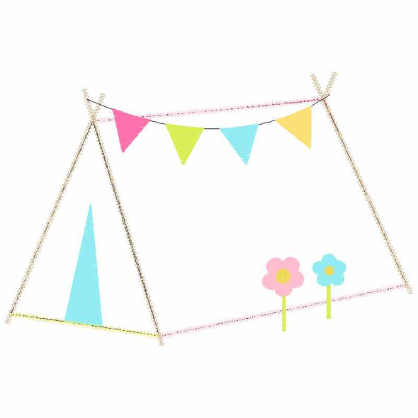 Sweet Tent Chain and Vintage Applique
