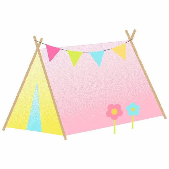 Sweet Tent Sketch Applique