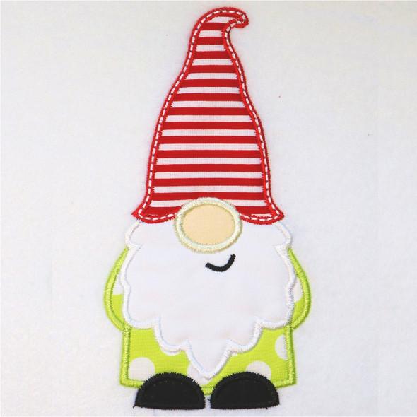 Boy Gnome Satin and Zigzag Applique