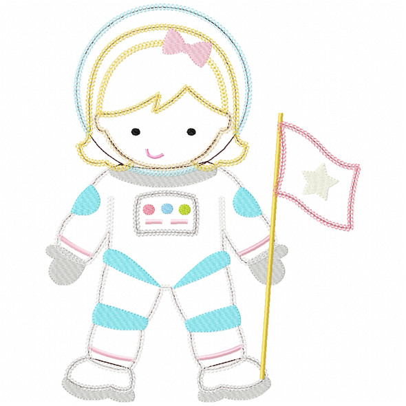 Astronant Girl Chain and Vintage Applique