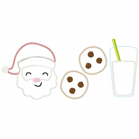 Santa - Cookies - Milk Chain and Vintage Applique