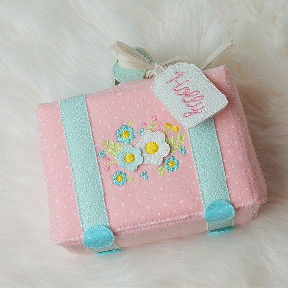 In The Hoop Suitcase  For Holly Doll