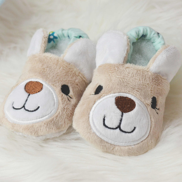 ITH Teddy Bear Baby Shoes Machine Embroidery Design