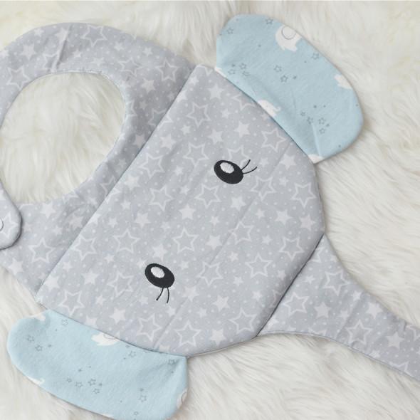 ITH Elephant Baby Bib Machine Embroidery Design