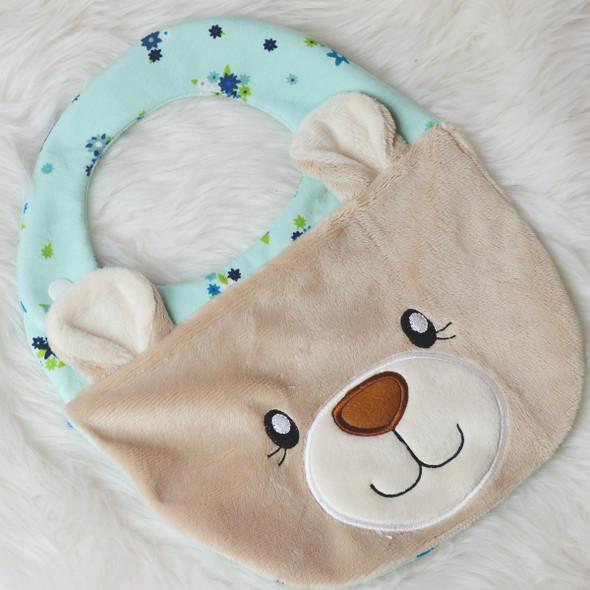 ITH Teddy Bear Baby Bib Machine Embroidery Design