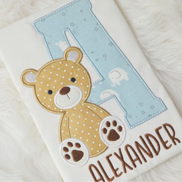 Teddy Bear Alphabet Machine Embroidery Design