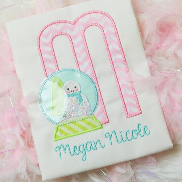 Snowglobe 2 Alpha Machine Embroidery Design