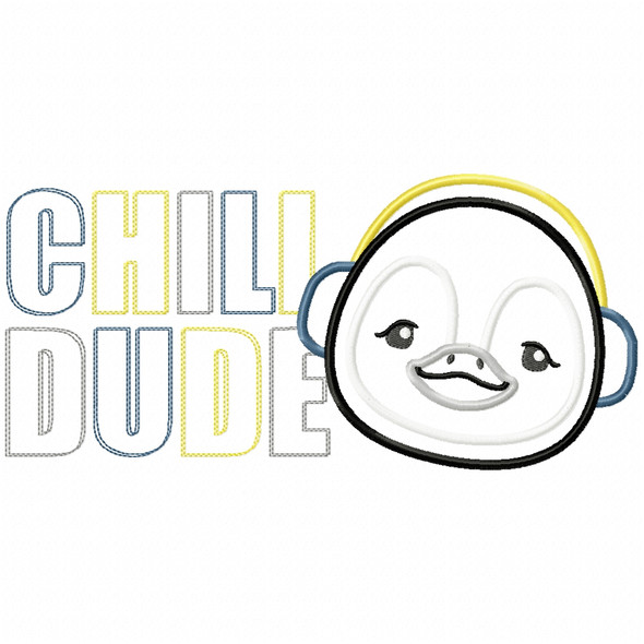 Chill Dude Penguin Satin and Zig Zag
