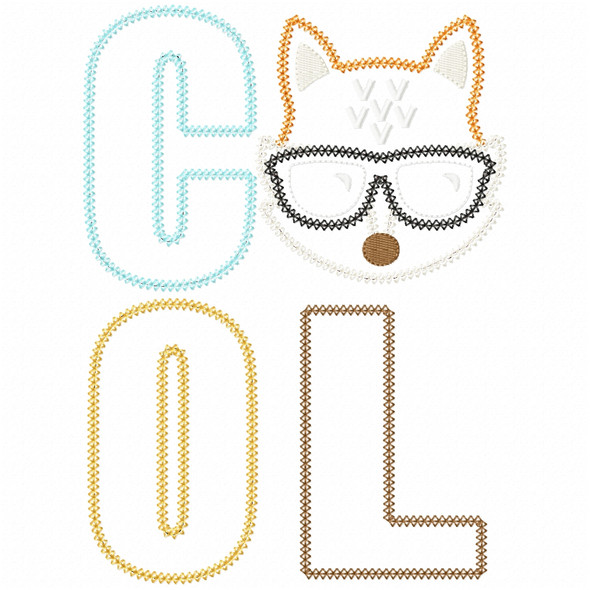 Cool Fox Vintage and Chain Stitch Machine Embroidery Design