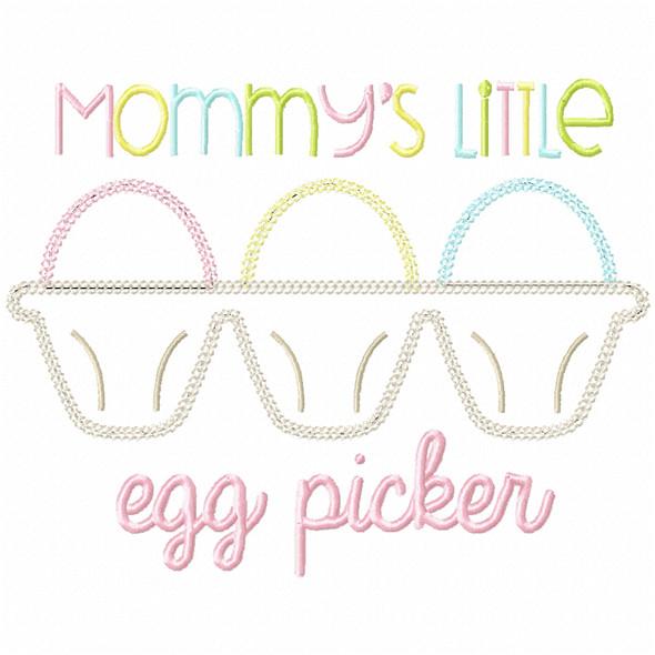 Little Egg Picker Vintage and Chain Stitch