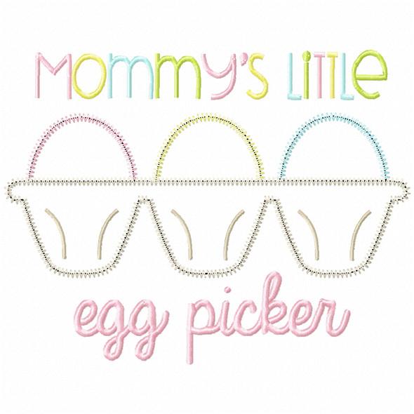 Little Egg Picker Satin and Zig Zag