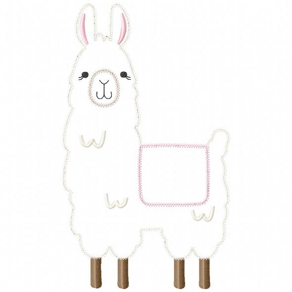 Llama 2 Vintage and Chain Stitch Machine Embroidery Design