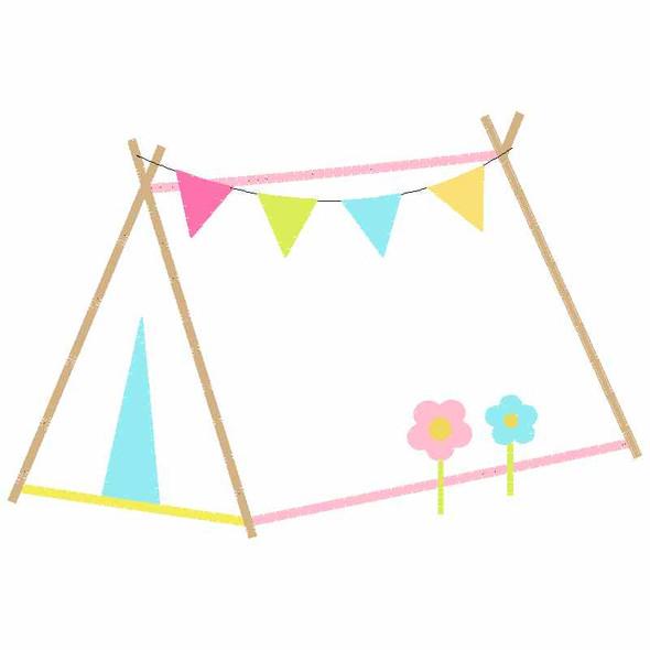 Sweet Tent Satin and Zigzag Applique