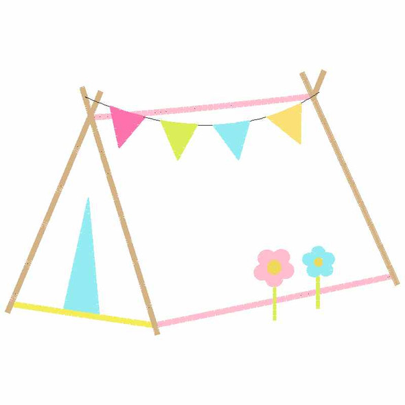 Sweet Tent Satin and Zigzag Applique Machine Embroidery Design