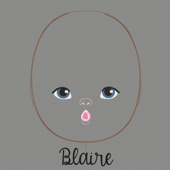 Blaire Doll Faces Addon Machine Embroidery Design