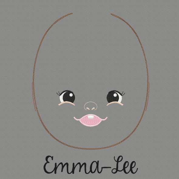 Emma Lee Doll Faces Addon Machine Embroidery Design