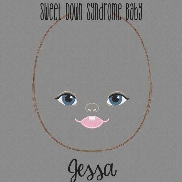 Jessa Doll Faces Addon Machine Embroidery Design