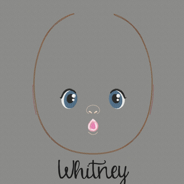 Whitney Doll Faces Addon Machine Embroidery Design
