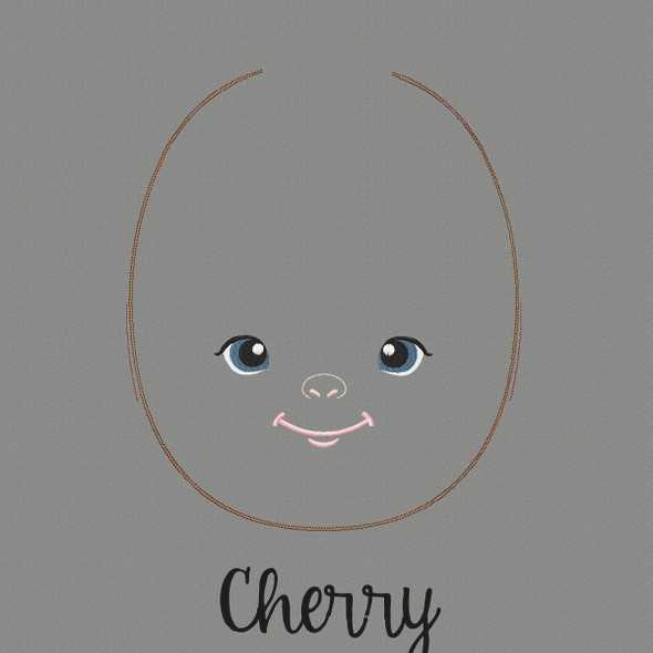 Cherry Doll Faces Addon Machine Embroidery Design