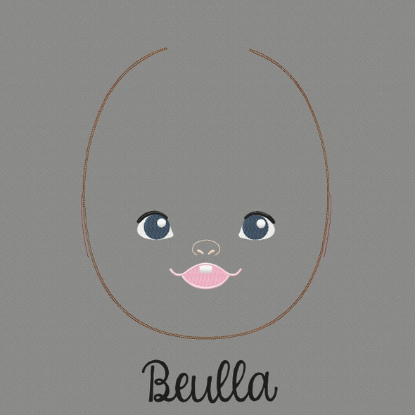 Beulla Doll Faces Addon Machine Embroidery Design