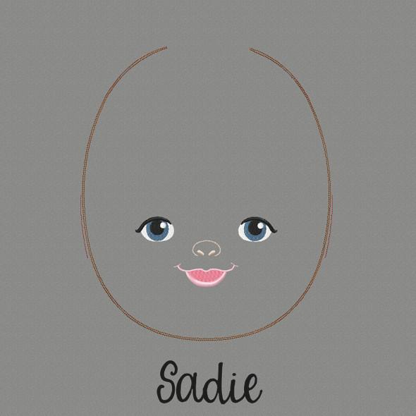 Sadie Doll Faces Addon Machine Embroidery Design