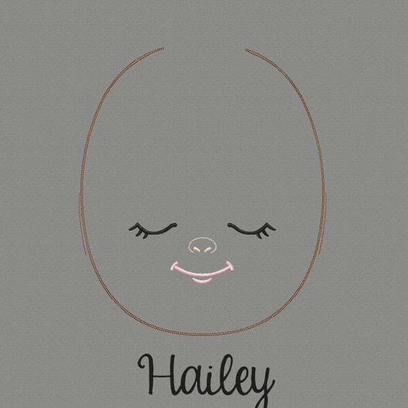 Hailey Doll Faces Addon Machine Embroidery Design