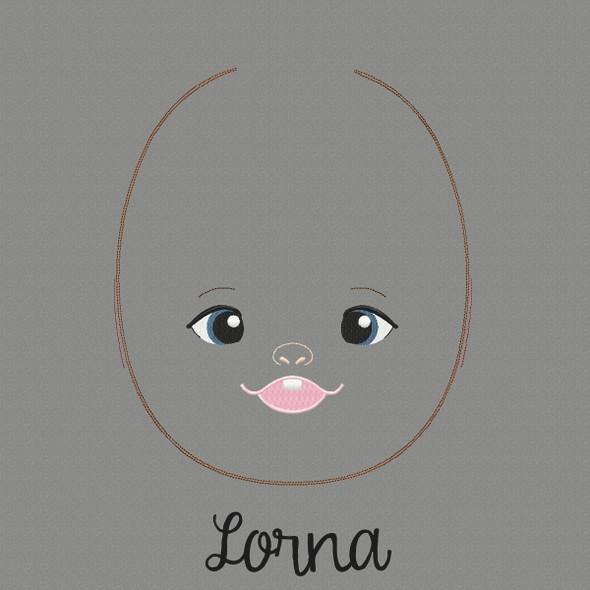 Lorna Doll Faces Addon Machine Embroidery Design