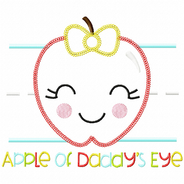 Apple of Daddys Eye Vintage and Chain Applique