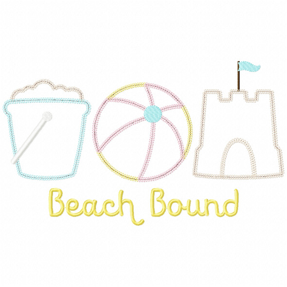 Beach Bound Vintage and Chain Applique