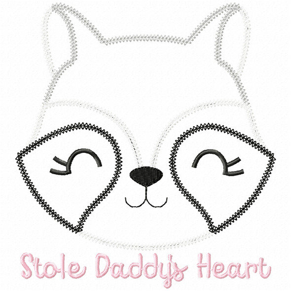 Stole Daddys Heart Vintage and Chain Applique Machine Embroidery Design