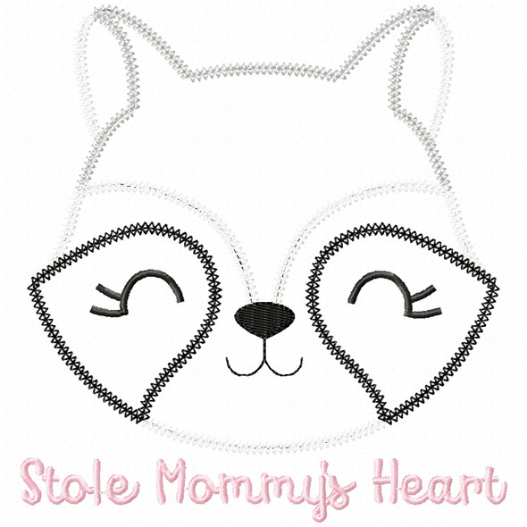 Stole Mommys Heart Vintage and Chain Applique Machine Embroidery Design