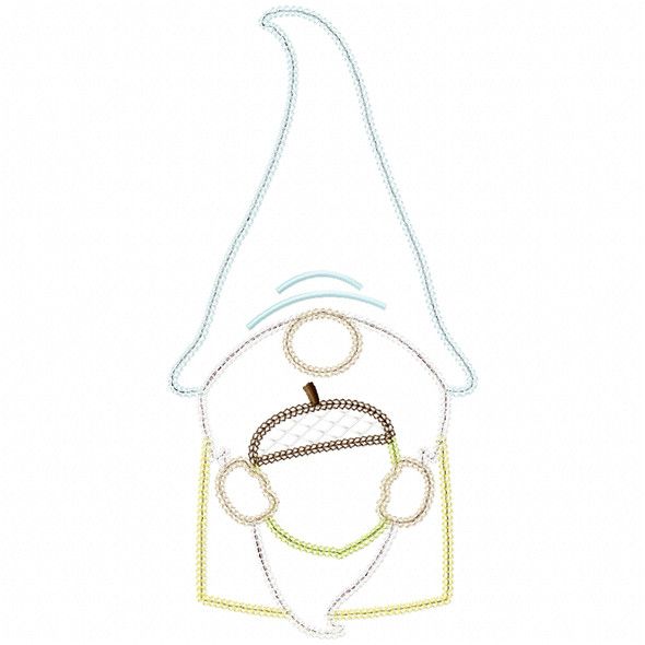 Acorn Gnome Vintage and Chain Applique