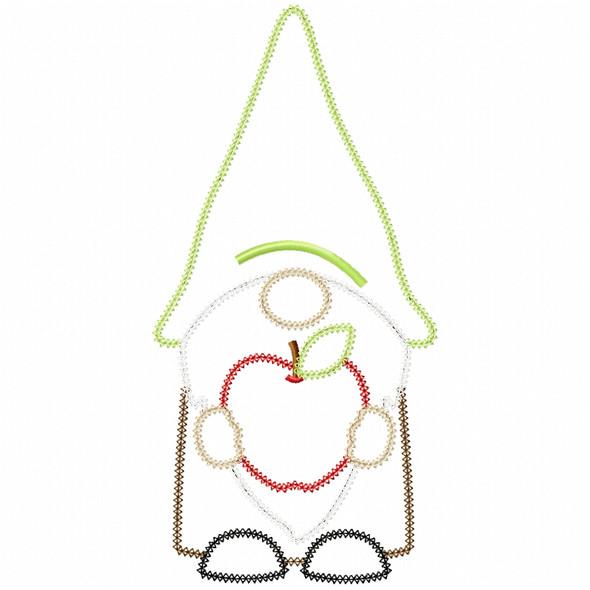 Apple Gnome Vintage and Chain Applique