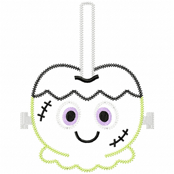 Franken Candy Apple Vintage and Chain Applique Machine Embroidery Design