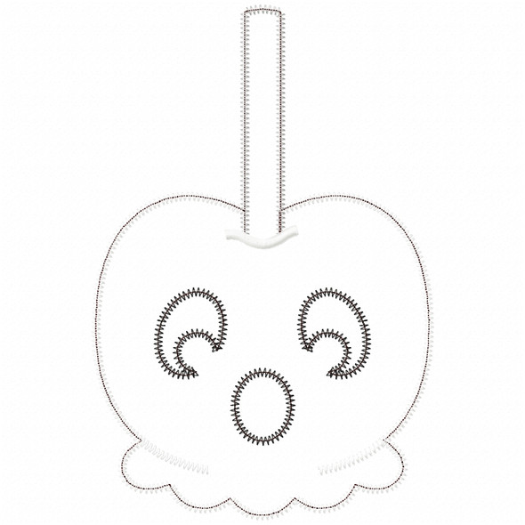 Ghost Candy Apple Satin and Zigzag Applique