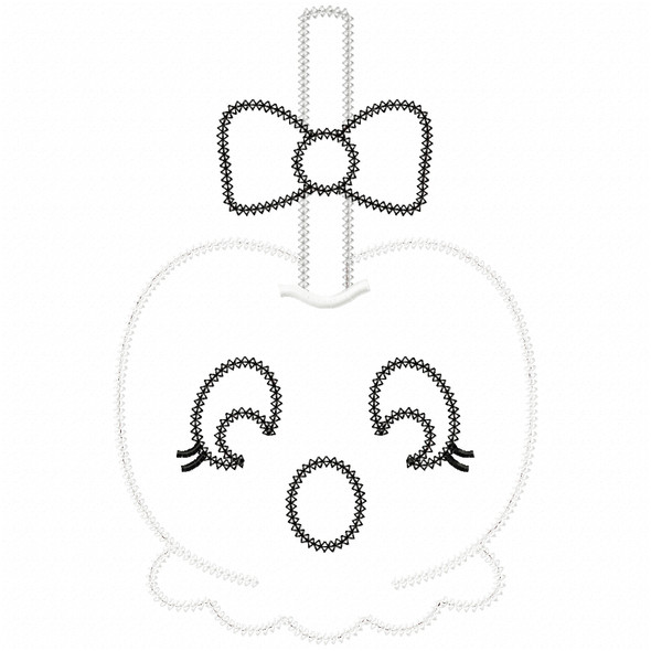 Girly Ghost Candy Apple Vintage and Chain Applique Machine Embroidery Design