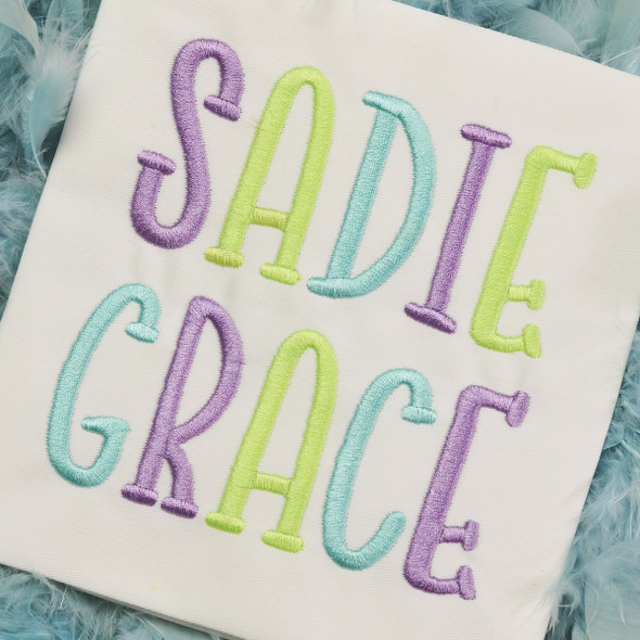 Sadie Embroidery Font Machine Embroidery Design