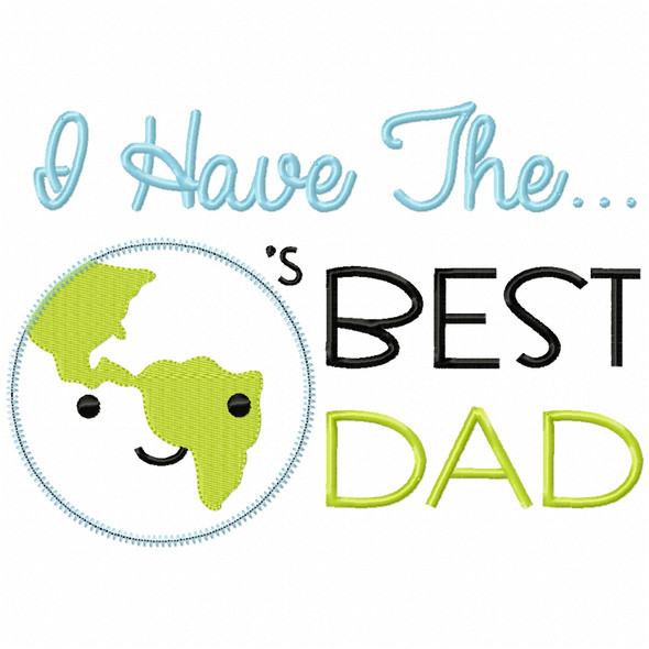 Worlds Best Dad Satin and Zigzag Applique
