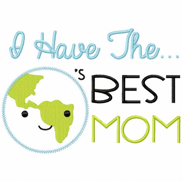 Worlds Best Mom Vintage and Chain Applique Machine Embroidery Design