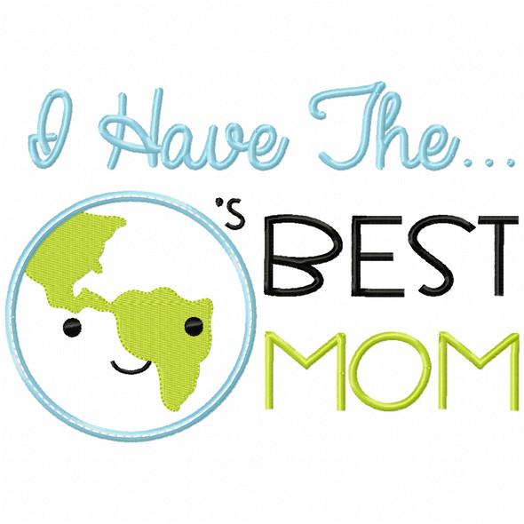 Worlds Best Mom Satin and Zigzag Applique