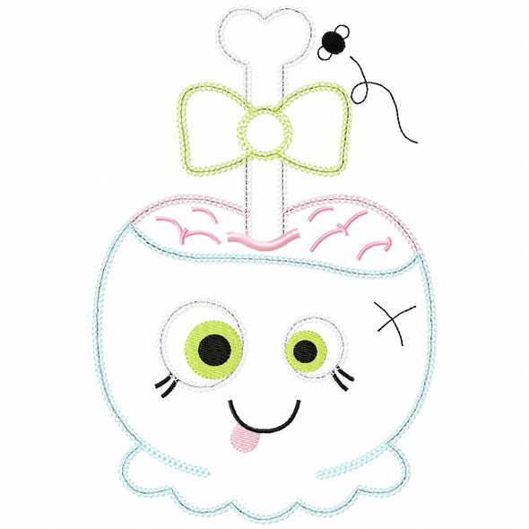Girly Zombie Candy Apple Vintage and Chain Applique